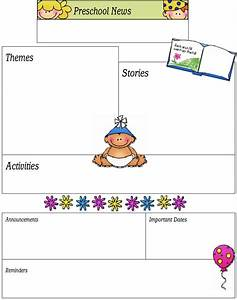 blank preschool lesson plan template 16 preschool newsletter templates easily editable and