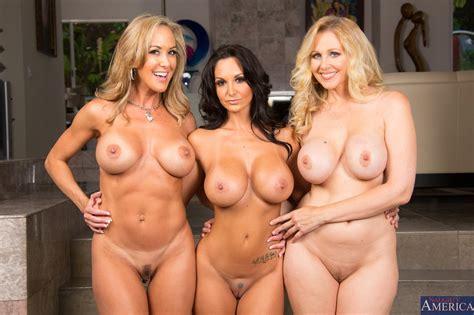 Brandi Love, Ava Addams and Julia Ann showing off their sexy bodies - My Pornstar Book