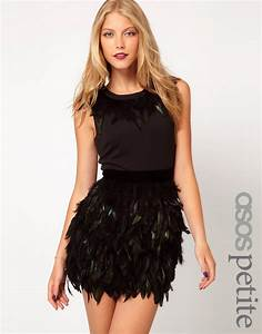 asos petite asos petite exclusive dress with feather With robe guess 2017