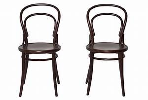 Pair of Black Bistro Chairs Omero Home