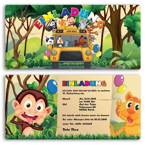 einladungskarten im zoo design ab 65 cent einladung