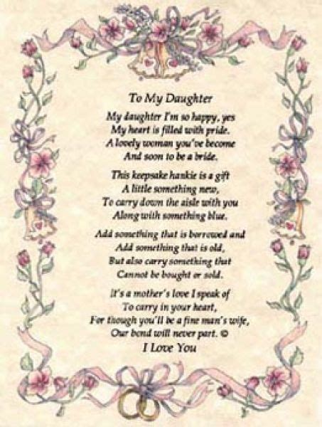 poems   daughter   mother   wedding day