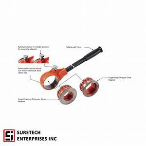 Agp Npt Ridgid Type Manual Pipe Threader Set