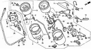 Honda Motorcycle 1997 Oem Parts Diagram For Speedometer