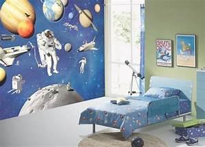 Papier Peint Espace : la boutique spatiale d coration chambre de l espace ~ Preciouscoupons.com Idées de Décoration