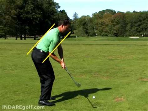 correct golf swing the correct spine angle for golf swing consistency gary