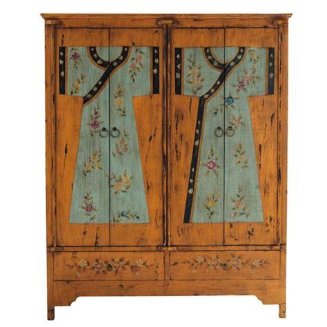meuble rangement chambre fille armoire imprimée en bois l 150 cm kimono maisons du monde