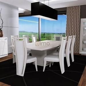 Table Extensible Salle A Manger : table salle manger extensible laqu e pied central nude ~ Teatrodelosmanantiales.com Idées de Décoration
