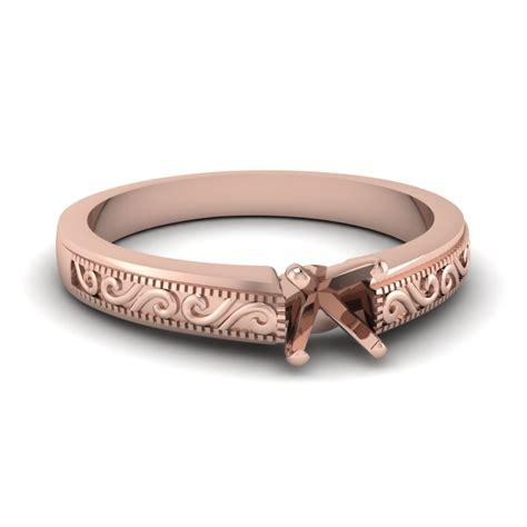 simple wave shape design 18k rose gold engagement ring wave design solitaire engagement ring in 18k rose gold fascinating diamonds