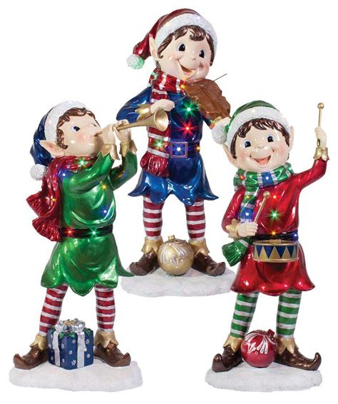 set of three pixie elves frontgate outdoor christmas decorations elves decorations outdoor psoriasisguru