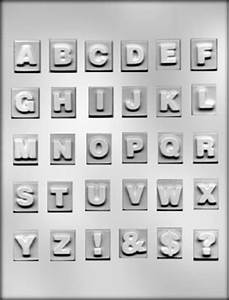 1 inch square with raised letters a z chocolate mold With chocolate molds alphabet letters