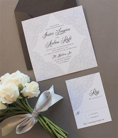elegant lace square invitation template  print