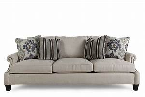 Sofa B Ware Online : nailhead accented 96 sofa in dark cream mathis brothers ~ A.2002-acura-tl-radio.info Haus und Dekorationen