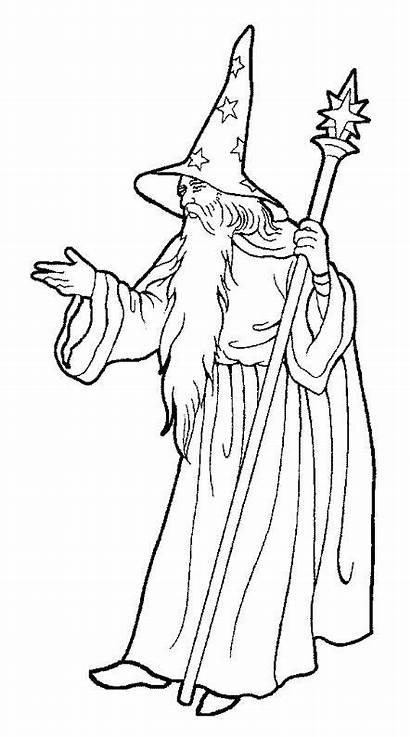 Dibujo Brujos Wizard Brujo Oz Colorear Magicien
