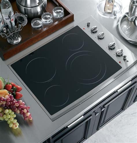 ge profile series  built  electric cooktop ppsmss ge appliances