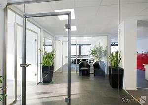 Da Ist Die Tür : b rotrennwand aus glas mit t r glasprofi24 ~ Watch28wear.com Haus und Dekorationen