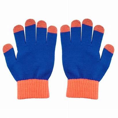 Gloves Touch Screen Running Fingers Orange Glove