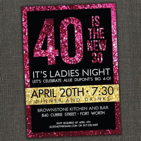 Sparkly Birthday Invitation cute idea for my 40th