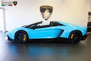 Baby Blue Aventador Roadster 50th Anniversary Spotted for Sale