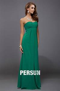 Robe Simple Mariage : verte robe soir e empire simple d collet en c ur ~ Preciouscoupons.com Idées de Décoration
