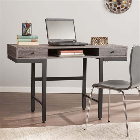 gray writing desk southern enterprises ranleigh writing desk in weathered