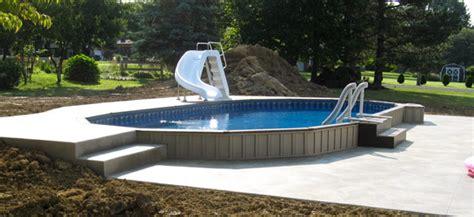 Semi Inground Pools Ilovemyoasiscom