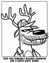 Coloring Pages Redneck Reindeer Randolph Hillbilly Template Horse Drew sketch template