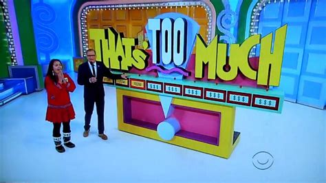 The Price Is Right  Thats Too Much  12262013 Youtube