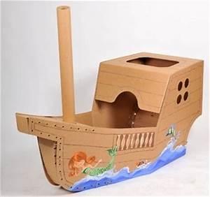 Basteln Mit Jungs : ein pirat braucht ein schiff und wenn s aus pappe ist ~ Lizthompson.info Haus und Dekorationen