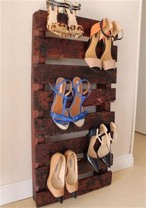 steps   beautiful pallet shoe racks pallets designs