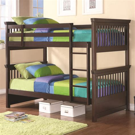 Spindle Headboard And Footboard by Coaster Oliver Bunk Bed With Spindle Headboard And