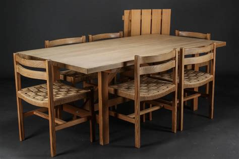 set of six oregon pine dining chairs with paper