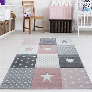 Teppich Kinderzimmer Rosa : kinderzimmer teppich sterne herzen grau rosa pastell ~ A.2002-acura-tl-radio.info Haus und Dekorationen