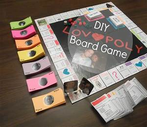 DIY Lovopoly Board Game. • Endless Bliss