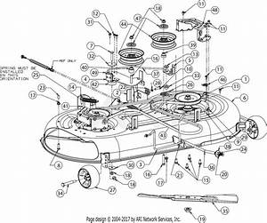 Troy Bilt 13wx78bs011 Bronco  2017  Parts Diagram For Deck