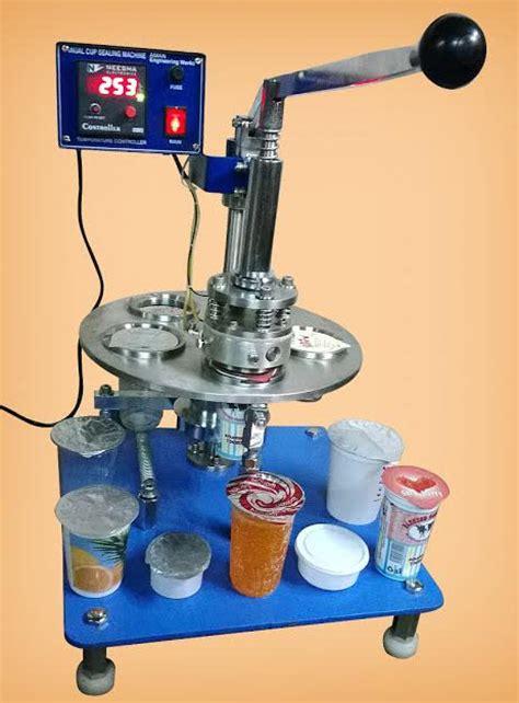 manual operate cup sealing machine rotary cup sealing machine mumbai india