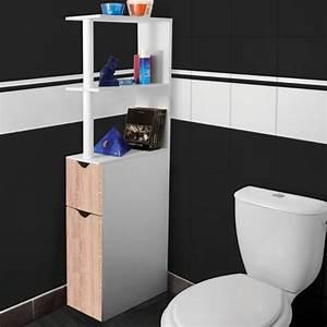 Meuble Gain De Place Pour Studio : meuble wc tag re bois gain de place pour toilette 2 ~ Premium-room.com Idées de Décoration