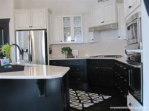 kitchen designs with white upper cabinets and dark lower With kitchen colors with white cabinets with priority mail stickers