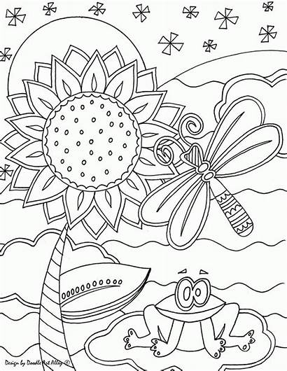 Coloring Pages Doodle Alley Insect Sheets Quotes
