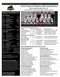 2012-13 Point Park University Men's Basketball Season ...