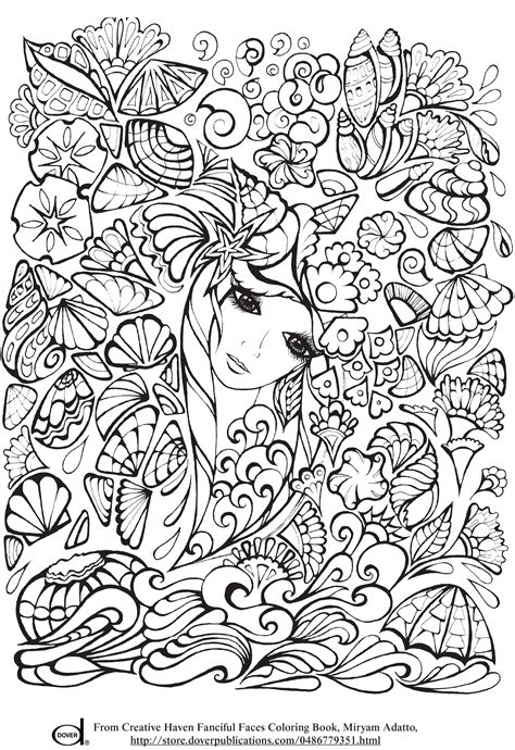 printable adult coloring pages anime girl