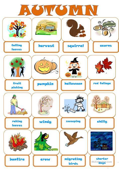esl autumn worksheets