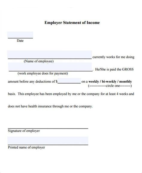 proof  income letter templates word  samples