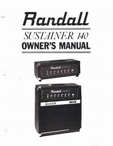 Randall Instruments Inc Owners Manual Schematic Sustainer
