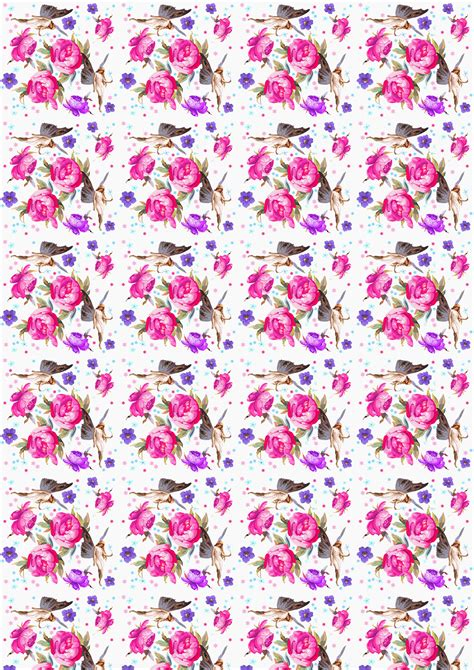 Free Scrapbook Paper: Garden Flower Fairies (Large ...