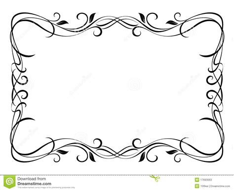 Floral Ornamental Decorative Frame Stock Vector