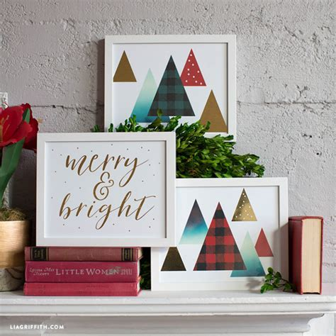 gold foil christmas wall art lia griffith