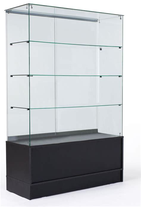 sliding door display cabinet 48 quot glass display case w sliding doors base cabinets
