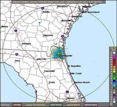 Radar Weather Florida Jacksonville Doppler Map Area