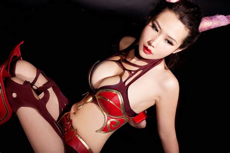 beru812 dota 2 cosplay sexy queen of pain